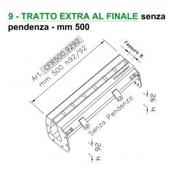 Canale a fessura ridotta TRATTO EXTRA FINALE senza pendenza mm 500 h. 92/92