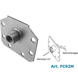 """Stainless steel  end cap flange with INLET PIPE COUPLING OF ½ """"."""