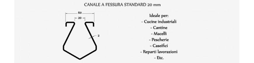 Canali a fessura standard mm 20